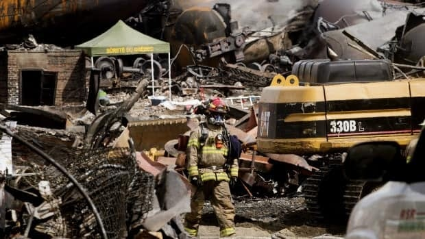 Newly minted Transport Minister Lisa Raitt visited Lac-Megantic on Wednesday to get a first-hand look at the devastated community.