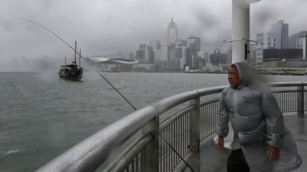The storm brought gale-force winds, rough seas and squally showers to Hong Kong.