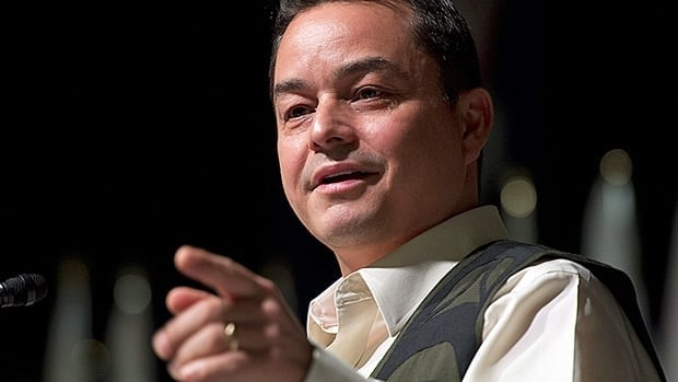 Assembly of First Nations National Chief Shawn Atleo speaks at the opening ceremony for the Special Chiefs Assembly, Tuesday in Gatineau, Que.