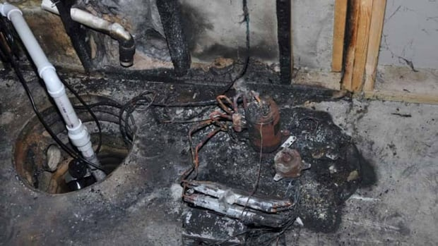 Damage allegedly caused by one of the models of dehumidifier under recall.