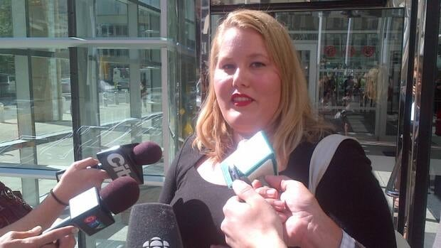 Former university student leader Meghan Melnyk, pictured here in August 2012, was sentenced to 18 months in jail for bank robbery.
