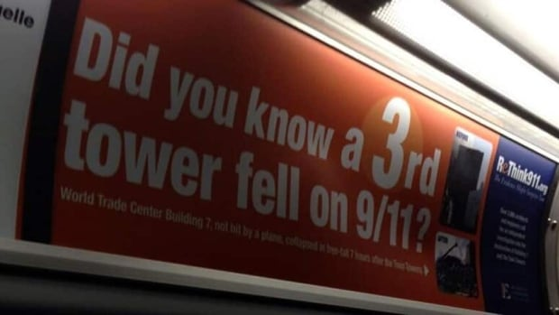 This ad for ReThink911.org appears on an OC Transpo bus.