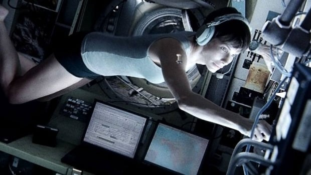 Sandra Bullock stars in Gravity as an astronaut who becomes adrift in space.
