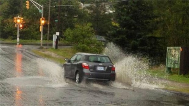 The storm is expected to dump up to 70 millimetres of rain in parts of the Maritimes.