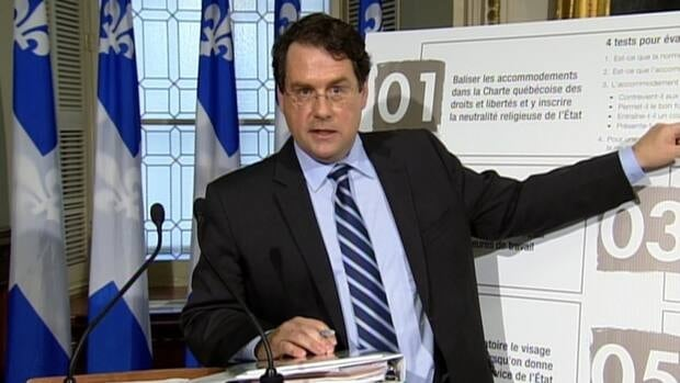 Bernard Drainville and Pauline Marois introduced the charter of Quebec values today.