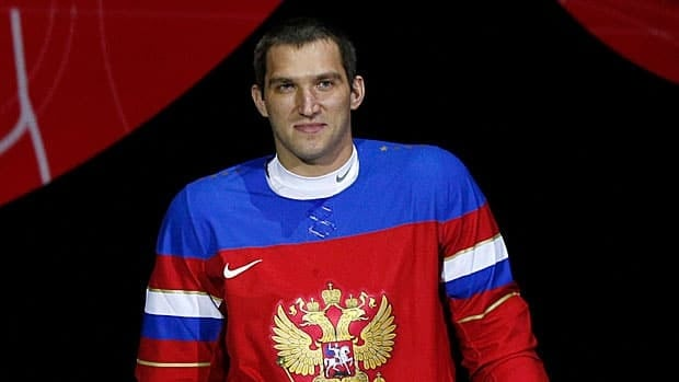 Alex Ovechkin, seen in August when the Russian hockey jerseys were unveiled, is looking to play in his third Olympic tournament.