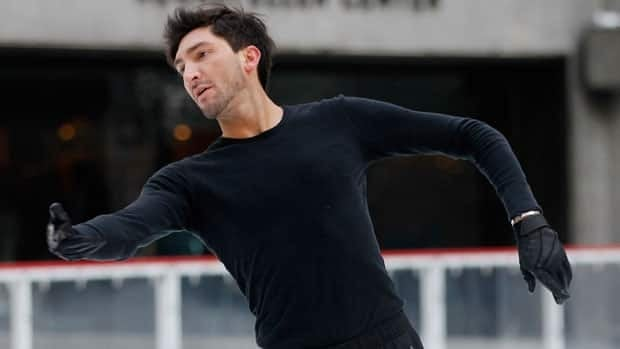 Evan Lysacek, seen practising in February, won a much-debated men's figure skating competition at the Vancouver Olympics.