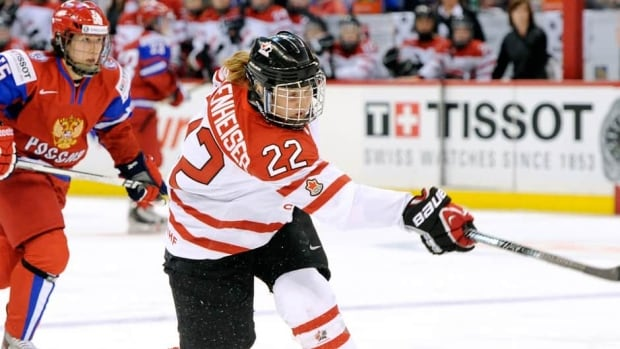 Veteran forward Hayley Wickenheiser had a goal and two assists for the Canadian team.