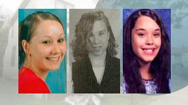 Amanda Berry (left), Michelle Knight and Gina Dejesus were found alive on May 6, 2013, years after they disappeared in the Cleveland area.