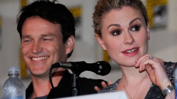 Singer-actor Stephen Moyer (left), Canadian-born True Blood actress Anna Paquin's husband and co-star, has helped with composer Nathan Barr's True Blood musical pitch.