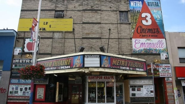 The Metro Theatre, located east of Christie Street on Bloor Street West, is set to become a rock climbing centre. (Kimberly Gale/CBC)