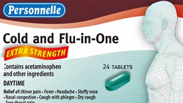 Personnelle Cold and flu products are under recall because of a labelling error.