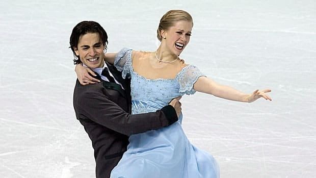 Kaitlyn Weaver and Andrew Poje are seen performing at the world championships in March in London, Ont., some seven years after they partnered.