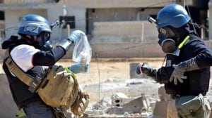 """U.S. Secretary of State John Kerry says the U.S. and Russia are """"very pleased"""" with the progress of Syria chemical disarmament, as international weapon inspectors began destroying the country's estimated 907-tonne arsenal on Sunday."""
