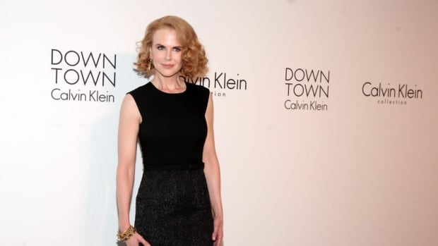 Actress Nicole Kidman arrives at the Calvin Klein post show event at Spring Studios on Thursday in New York. Earlier that day she was knocked to the ground by a cyclist.