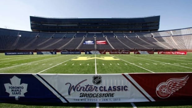Michigan Stadium in Ann Arbor, Mich., the 2013 NHL Winter Classic venue. Other events, such as the alumni games will be held in downtown Detroit. (AP Photo/Paul Sancya)