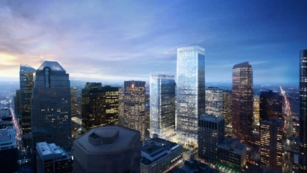 Brookfield Office Properties plans to build what would be the tallest office tower in Calgary and Western Canada, standing at 247 metres.