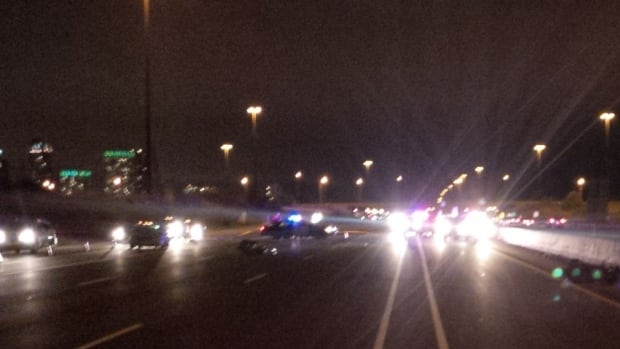 Two motorcyclists were injured following a 3-vehicle crash on Highway 403 Friday night.