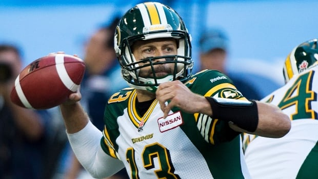 Quarterback Mike Reilly has been taking quite a beating so far this year, what with the Eskimos allowing an alarming 33 sacks.