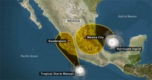Mexico storms