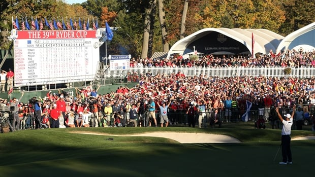 Martin Kaymer of Europe drains the winning putt at the Ryder Cup in Medinah, Ill., last Sept. 30.
