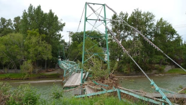Three pedestrian bridges over the Elbow River were destroyed during the flood in June.