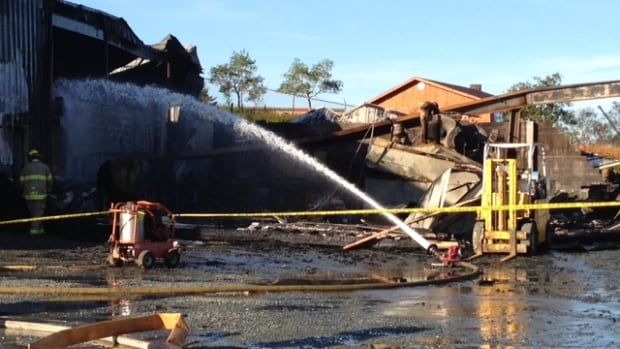 A building in the Goulds area of St. John's was destroyed by fire early Wednesday morning.