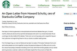 Starbucks open letter