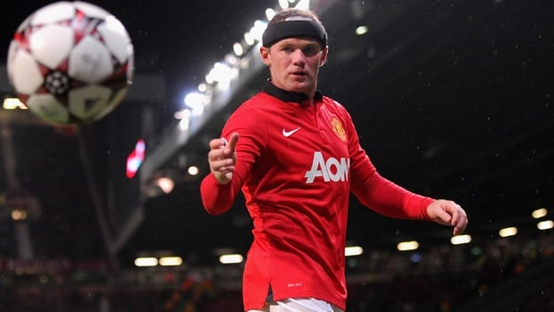 United striker Wayne Rooney retrieves the ball in Tuesday's 4-2 Champions League victory over Leverkusen at Old Trafford.