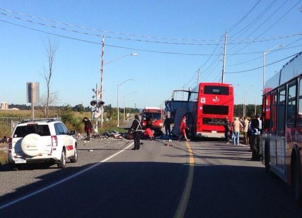 Oc Transpo bus crash train