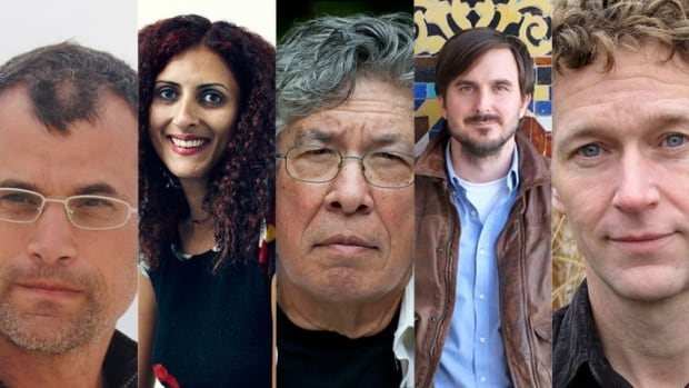 Five authors are nominated for the 2013 Hilary Weston Writers' Trust Prize for nonfiction: (from left) Andrew Steinmetz, Priscila Uppal, Thomas King, Graeme Smith and J.B. MacKinnon.