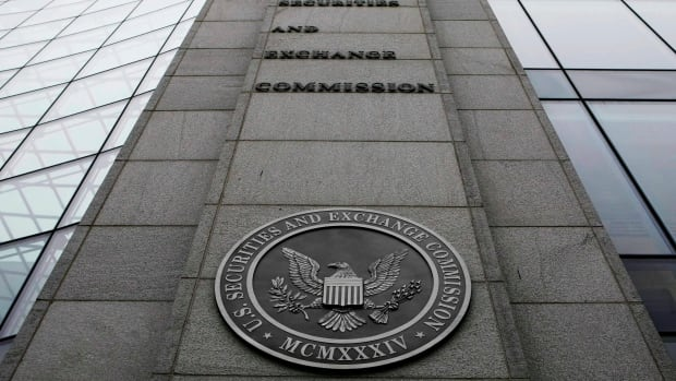 This file photo shows the exterior of the Securities and Exchange Commission (SEC) headquarters in Washington.
