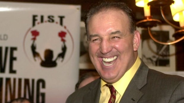 Gerry Cooney smiles during a 2003 news conference announcing the formation of the Boxers Guild, a group he helped form to represent retired and active boxers who have fallen on hard times.