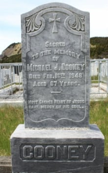 Gravestone of Michael Cooney