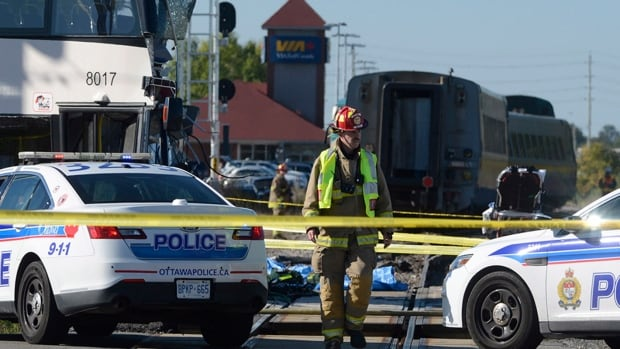 Six people were killed after a crash between a Via Rail train bound for Toronto and a double-decker bus in south Ottawa on Sept. 18, 2013. Thirty people were injured.