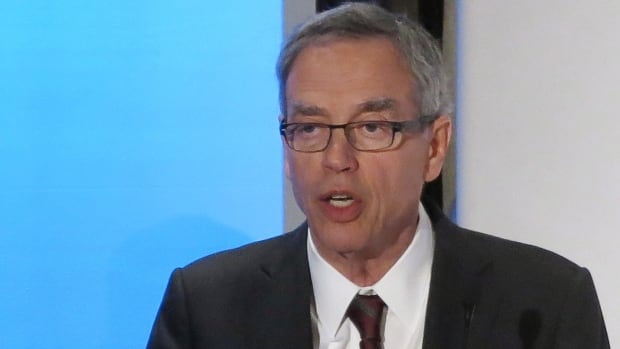 Federal Natural Resources Minister Joe Oliver speaks at Google's ThinkEnergy! Summit in Calgary Wednesday.
