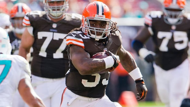 Running back Trent Richardson rushed for just 105 yards on 31 carries this season for the Cleveland Browns.