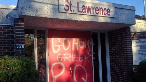 A church and a business in LaSalle were both targets of anti-immigrant graffiti this week.