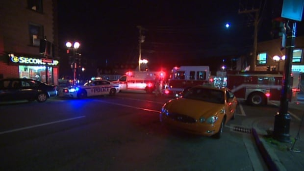 Police said the vehicle-pedestrian accident happened around 8 p.m. at the corner of Water and Adelaide Sts.