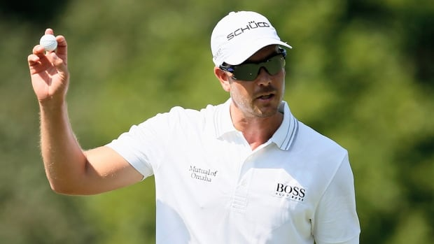 Henrik Stenson of Sweden on the fourth hole during the first round of the Tour Championship at East Lake Golf Club on September 19, 2013 in Atlanta, Georgia.