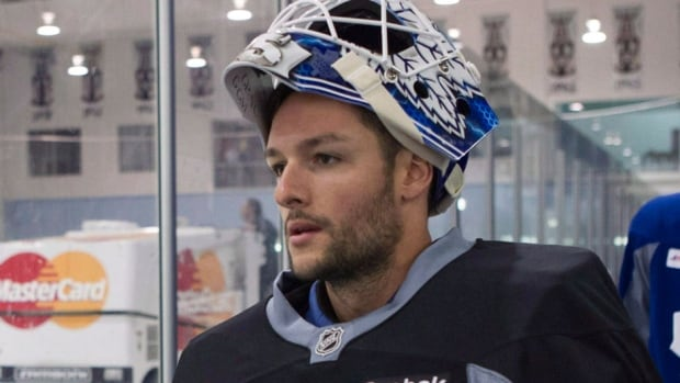 Jonathan Bernier, who is expected to be the Maple Leafs' starting goalie this season, left Thursday's pre-season game at Ottawa after one period with an undisclosed injury.