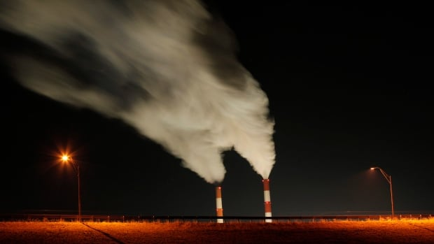 Smoke rises from the stacks of the La Cygne Generating Station coal-fired power plant in La Cygne, Kan. President Barack Obama has pushed ahead with a plan to curb carbon emissions.