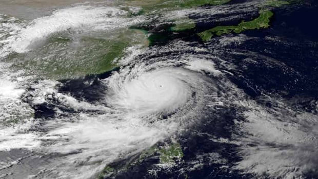 Super Typhoon Usagi is seen heading west-northwest between the Philippines and Taiwan through the Luzon Strait on Friday. With centre winds of 205 km/h and gusts of up to 240 km/h it is the strongest storm to hit the Western Pacific this year.