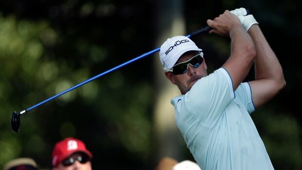 Henrik Stenson hits from the tee on the 14th hole during the second round of play in the Tour Championship at East Lake Golf Club in Atlanta on Friday.