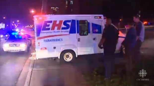 A Halifax Regional Police officer was taken away by ambulance after being injured at Metro Turning Point on Barrington Street on Sept. 20.