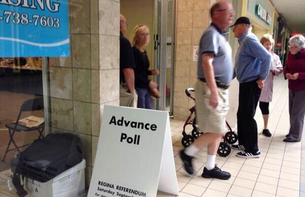 Advanced polls sewage referendum Regina