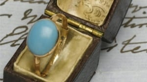 The Jane Austen House Museum announced it's raised enough money to keep this gold-and-turquoise ring once owned by the British author from Kelly Clarkson, who bought it at an auction last year.