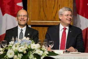 Enrico Letta and Stephen Harper 20130922