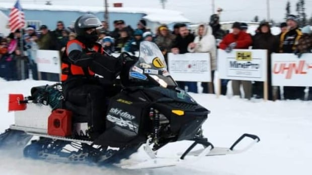 Snowmobilers compete in a previous Cain's Quest in Labrador West.