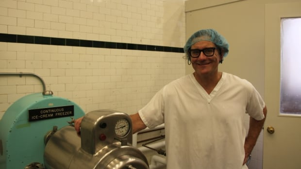John ​Thoroski in the U of M lab that is producing artisanal dairy products  like Cornell Creme ice cream and Oak Island Acres Goat Dairy cheeses. (Mike Green)
